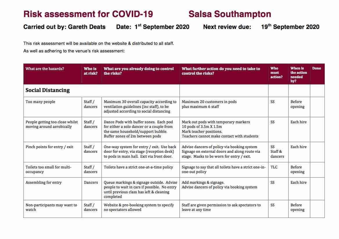 SS Covid-19 Risk Assessment 1 Sep 2020